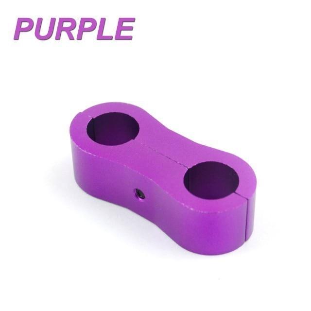 10 AN Purple Billet aluminum Hose line separator