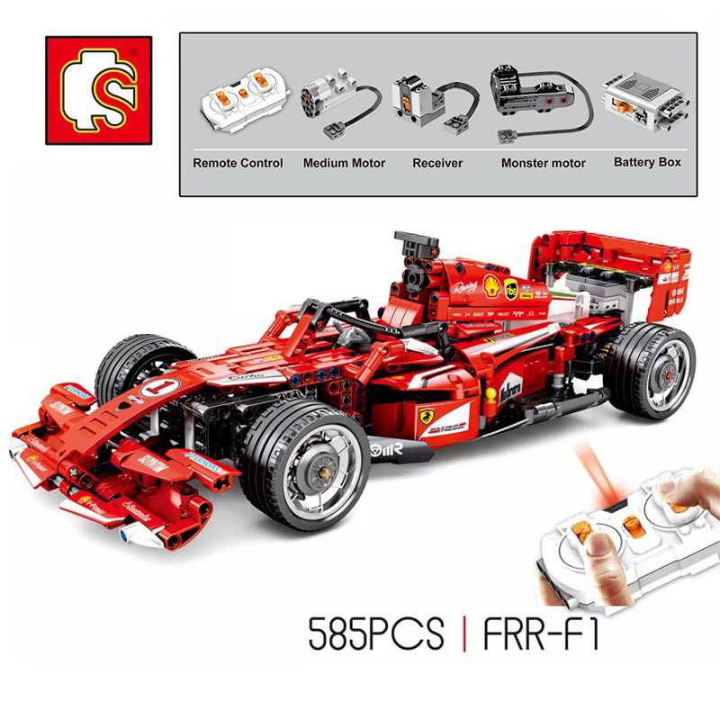 Remote Control F1 FRR Legoing Racer RC Racing Car Building Blocks Technic Motor Supercar Super Sports Car Assembly Toys