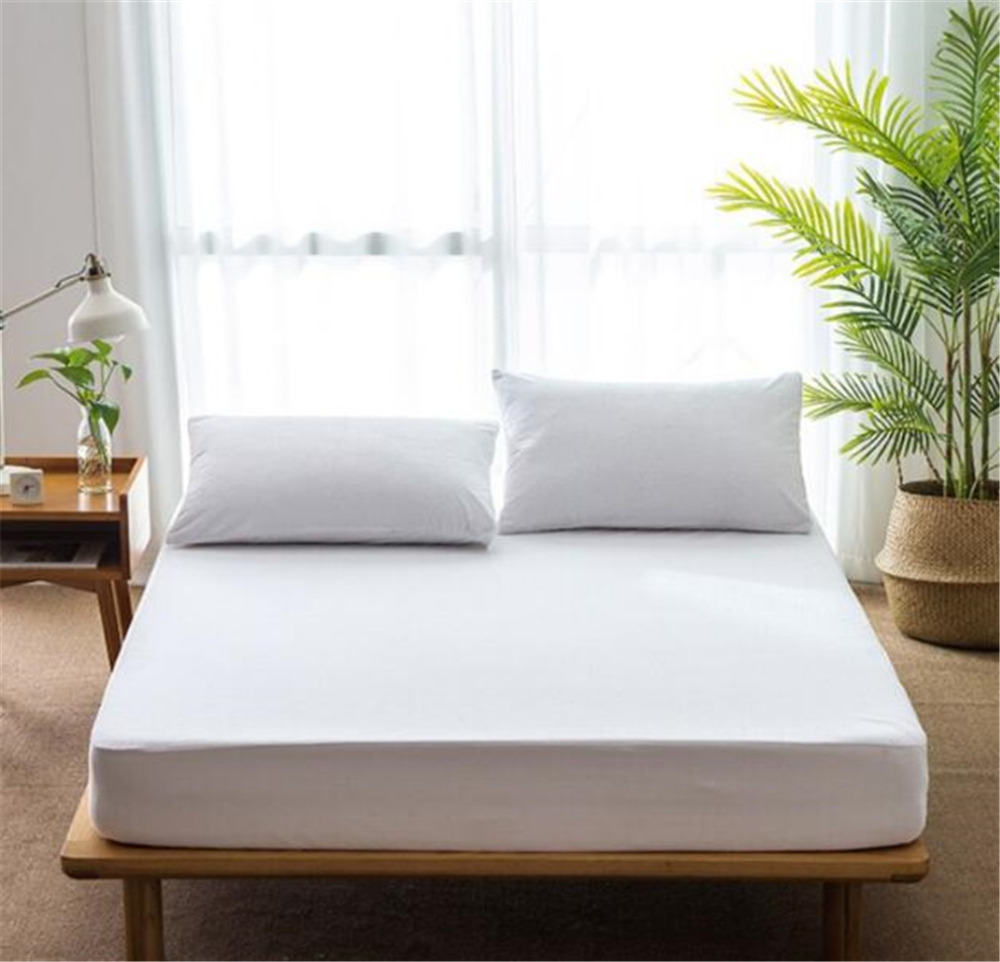 180*200cm Waterproof Breathless Cotton Mattress Cover Bed Padded Mattress Cover Antibacterial Bed Cover Home Hotel Hospital USE