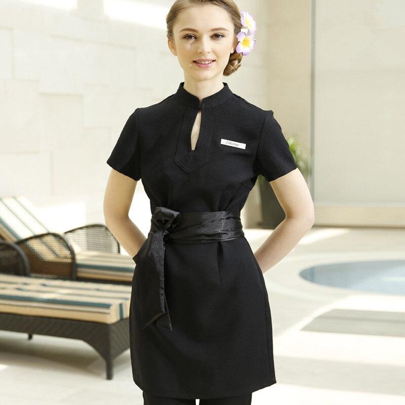 Work Clothes Spring/Autumn Thai Massage Uniforms Purple Nurse Uniform 2pcs Sets High Quality Uniforms Cheap Spa Clothing Scrubs