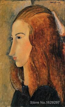 Portrait of Jeanne Hebutern by Amedeo Modigliani paintings For sale Home Decor Hand painted High quality image