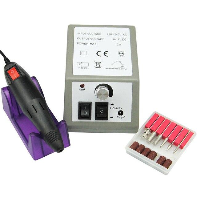 US/UK/AU/EU Electric Nail Manicure Machine Manicure Pedicure Drill ...