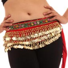Women Belly Dance Costumes Velvet Hip Scarf  Wrap Belt Women Skirt Dancewear