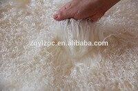 Réel couleur Bouclés en peau de Mouton Peau/Bouclés Mongol de Fourrure D'agneau Peau