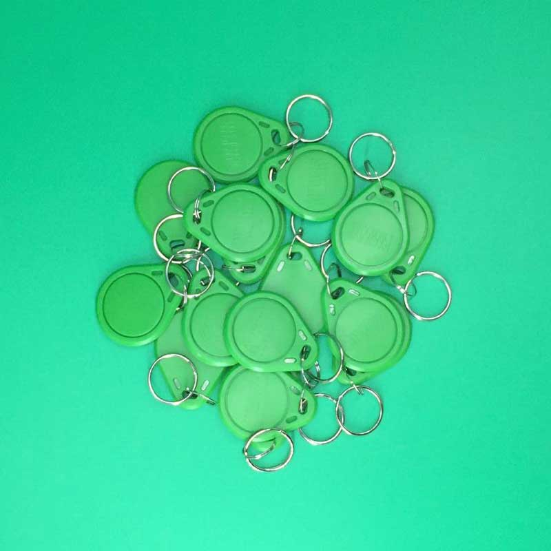 10pcs RFID Tag Proximity ID Token Tags Key Keyfobs 125Khz Card Chip ID em4100 for Access Control Time Attendance Green Color