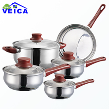 2017 Cookware Set High-grade Stainless Steel 5 Pieces Cookware Set Cooking Pots With Frypan Pot And Pans Kitchen