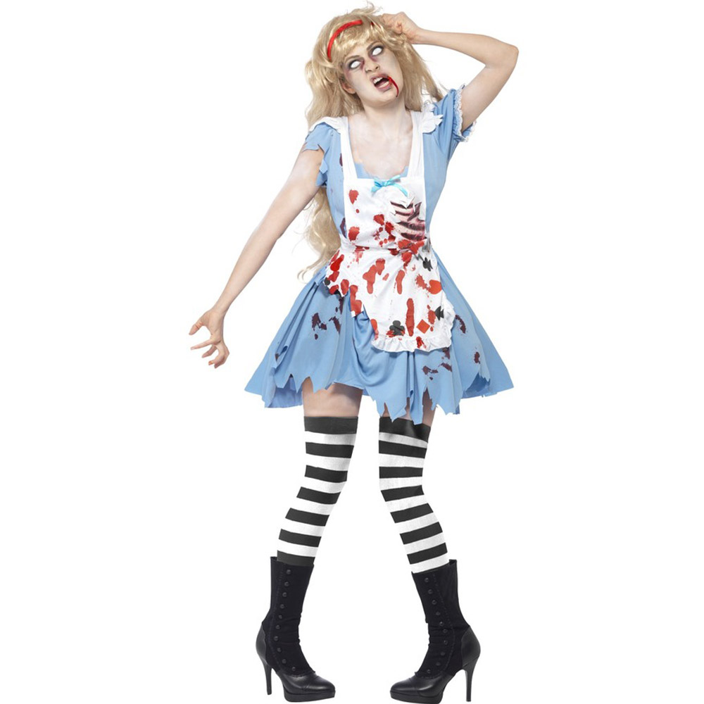 halloween costumes bloody waitress costumes high quality female