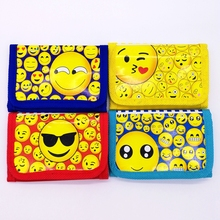 12pcs Mini Coin Purse Money Bag Cute Emoji Wallet Birthday Party supplies Gift Party Favors For Kids Boy Girl(China)