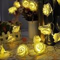 20 LED Rose  Flower  LED String Light Wedding Garden Party Christmas Decoration battery operated fairy lights led strip lamp