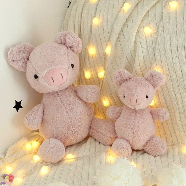 MIAOOWA 1 pc 25/35 cm Kawaii Porco Cor de Rosa Boneca de Pelúcia Kid Adorável Pig Stuffed Animal Toy Alta Qualidade sofá Travesseiro Bonito Presente de Aniversário Do Miúdo