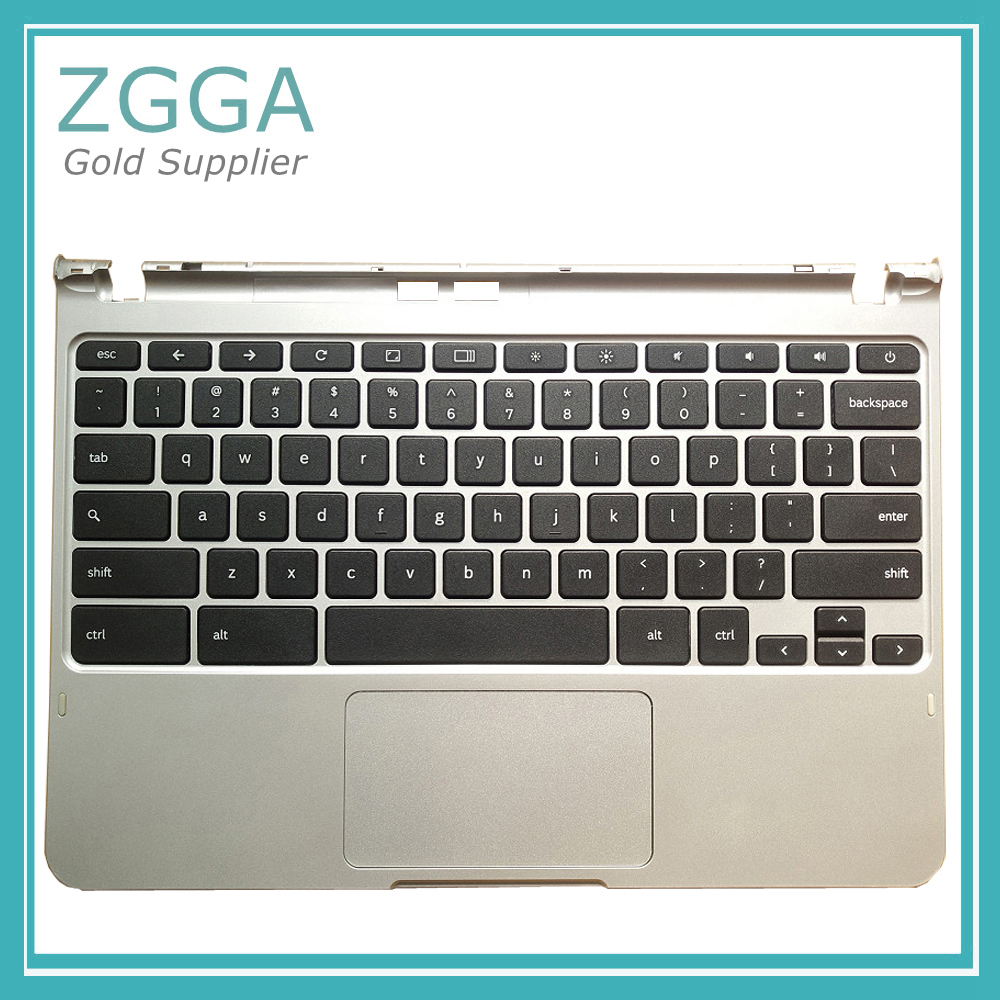 Genuine NEW Laptop Upper Case For Samsung NP XE303C12 Chromebook Palmrest With US Keyboard Touchpad BA75-04170A