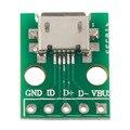 MICRO 5pin USB para Adaptador DIP Tipo de Conector Fêmea B PCB Conversor