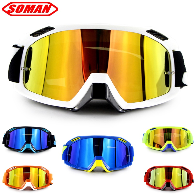 New Arrival Motorcycle Racing Goggle Motocross Glasses Dirt Bike Helmet Goggles Moto Bike Gafas Soman Brand SM15