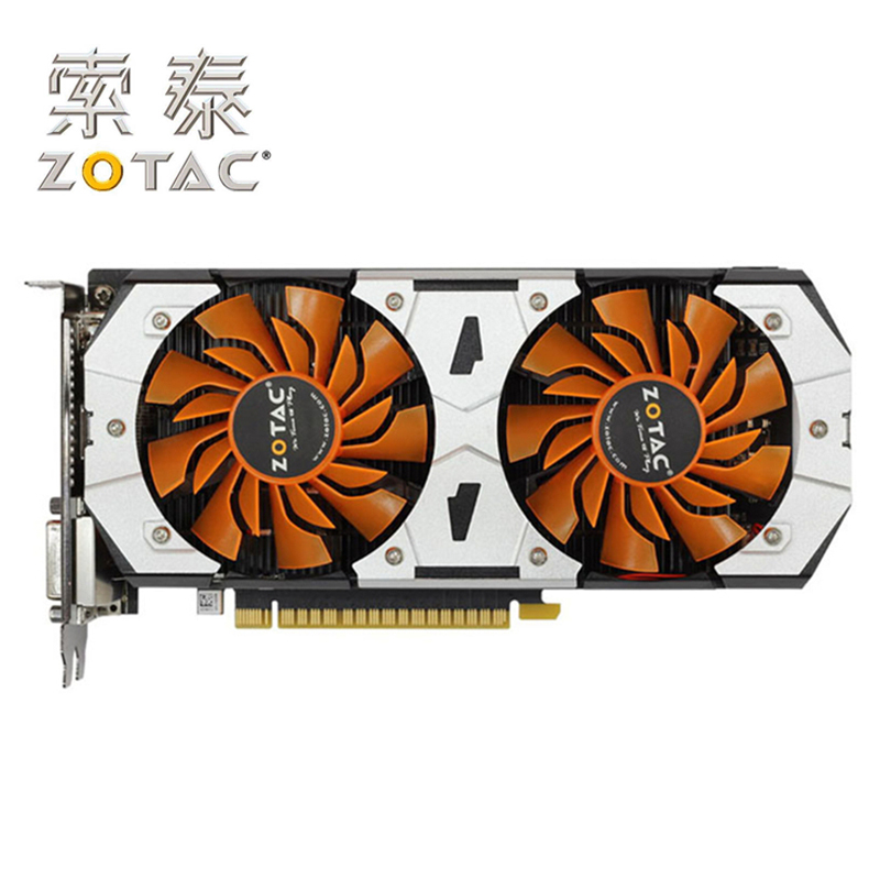 Carte graphique d'origine ZOTAC destructeur de GTX750Ti-2GD5 GPU GTX 750 Ti 2 GB GM107 128Bit GDDR5 carte graphique GTX750Ti 2GD5