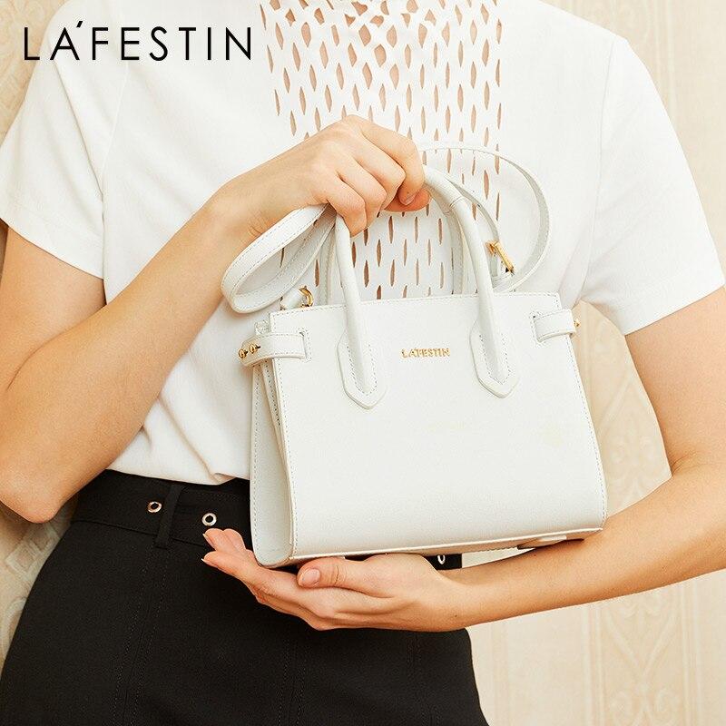 La festin women bag 2019 new simple leather handbag shoulder bag Fashion texture design