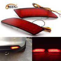 OKEEN 2x LED réflecteur de pare-chocs arrière lumière pour Ford Focus 3 berline 2012 2011 2013 2014 lampe d'avertissement en cours d'exécution feux d'arrêt de frein arrière