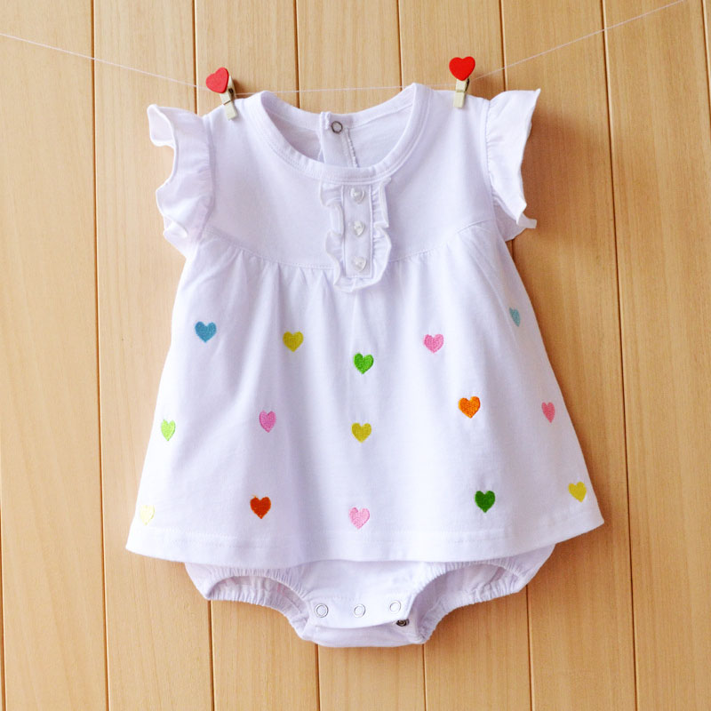 Baby Rompers Cotton Baby Girl Clothes 2018 Summer Newborn Baby Clothes Cartoon Dot Roupas Bebe Short Sleeve Infant Jumpsuits cotton baby rompers set newborn clothes baby clothing boys girls cartoon jumpsuits long sleeve overalls coveralls autumn winter