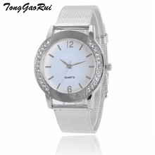 Hot Sale Watch Women 2017 Lady Girl Diamond Analog Leather Strap Quartz Wrist Watches Wristwatch Relogio
