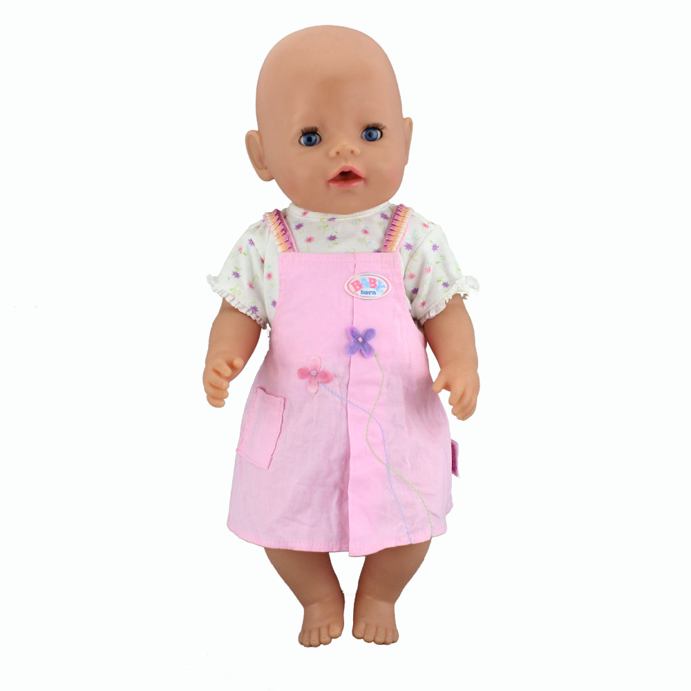 все цены на New Arrival 1Set=Coat+Dress Clothes Wear for 43cm Baby Born zapf, Children best Birthday Gift онлайн