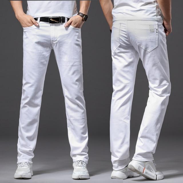 White Fashion Stretch Jeans 10
