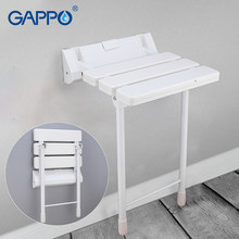GAPPO wall Mounted Shower Seats white wall mounted shower chair ABS plastic and Aluminium Alloy bath bench wall(China)