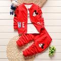 Baby Boy Girl Clothing Set For Toddler Boys Clothes Tracksuits Kids Sport Suit Set Casual Cardigan Coats/Sweatshirts+Pants 3PCS