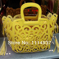 Cutout tassel bags fashion 2016 women's handbag fashion handbag candy color bags picture