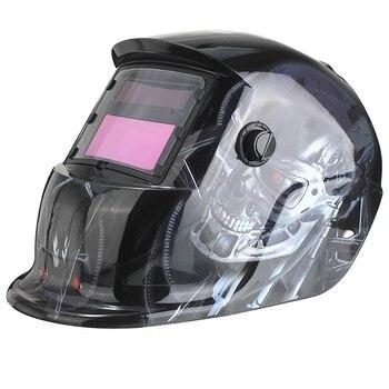 Pro Solar Auto Darkening Welding Helmet Tig Mask Grinding Welder Mask Robot New for Mig Tig Arc Welder Mask image selec't solar auto darkening welding helmet arc tig mig certified mask grinding