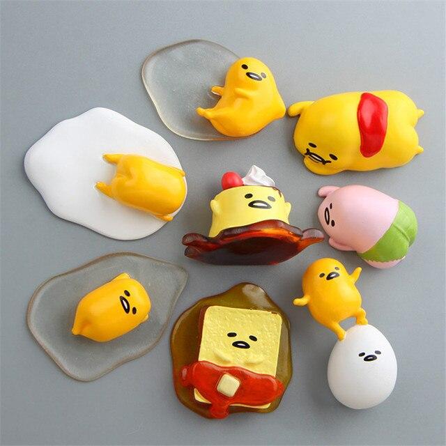 new cute cartoon gudetama fridge magnets 3d resin magnetic stickers