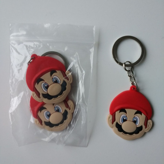 1pcs PVC Keychain Cartoon Figure Super Hero Avengers Super Mario Mickey Tinkerbell Key Chain Key Ring Key Holder Fashion Charms 3