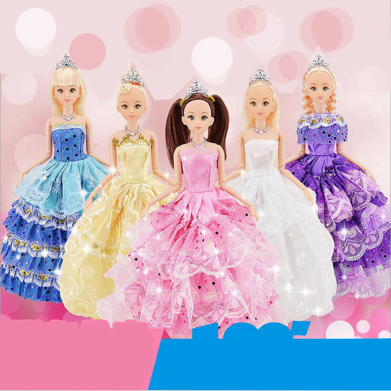 CXZYKING 2018 Anime 30cm Barbie Doll Reborn Baby Born Barbie Doll Toys Puzzle Handmade Safety Eyes Doll Children's Toys