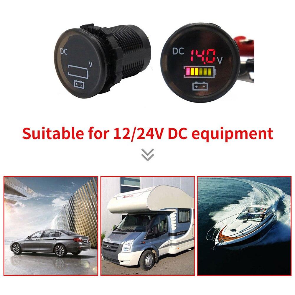 Erfinderisch Schwarz Universal Tragbare Volt Meter Boot Tester Wasserdicht Farbe Bildschirm Auto Mini Digital Durable Pc Geändert
