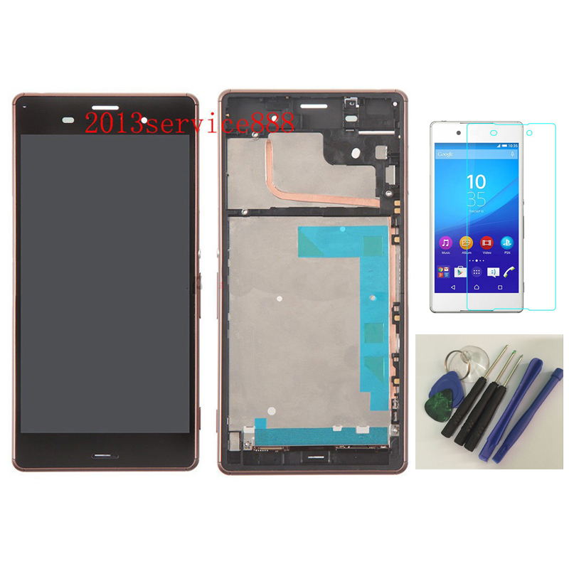 ФОТО New LCD Display Touch ScreenDigitizer Assembly with Front Housing For Sony Xperia Z3 Copper With free tools & Tempered Glass