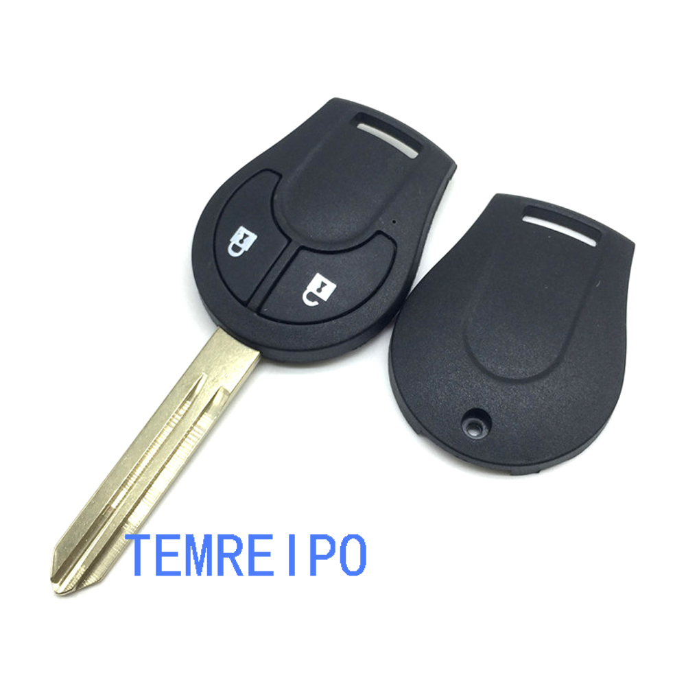 Remote Key Shell For Nissan Juke Cube Micra Note Qashqai Key Case Fob 2 Button