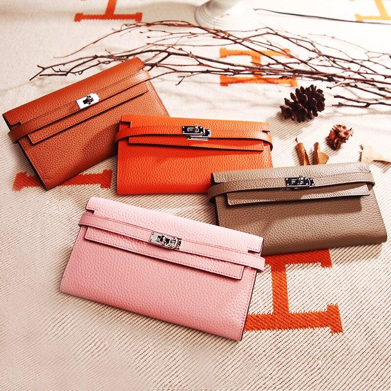 Bemoreal Genuine Leather designer wallets famous brand women wallet Fashion money bag Cell Phone Pocket ladies