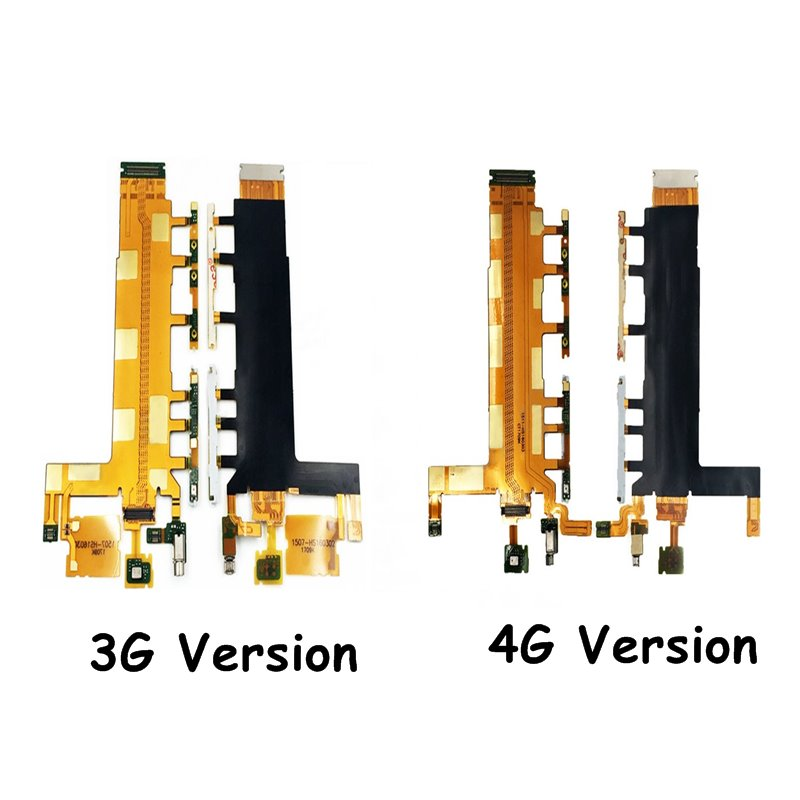 Power On/Off Button Flex Cable & Volume Switch Flex With Microphone Vibrator For Sony Xperia Z3 D6653 D6603 D6643 3G 4G