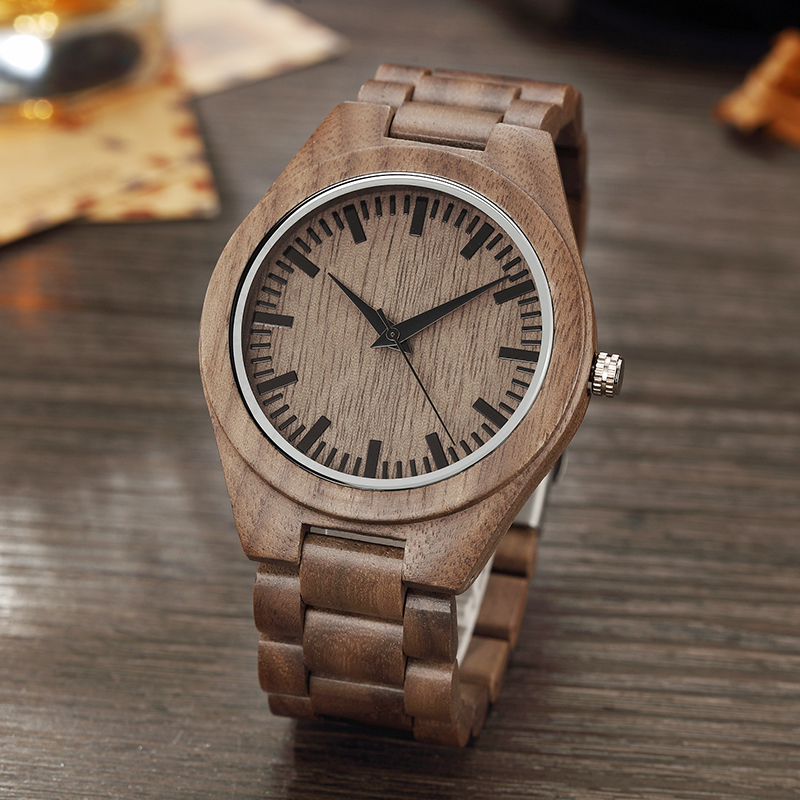 Natural Luxury Male Wood Watch Bamboo With Wood Band Casual Quartz Wood Watch Men Women Wooden Wristwatch Ladies 2018 Fashion simple casual wooden watch natural bamboo handmade wristwatch genuine leather band strap quartz watch men women gift page 4