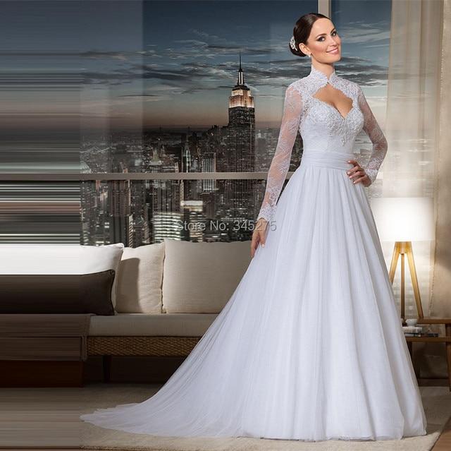 Wedding Gown Necklines: Aliexpress.com : Buy Brazil Unique Lace Tulle Queen Anne