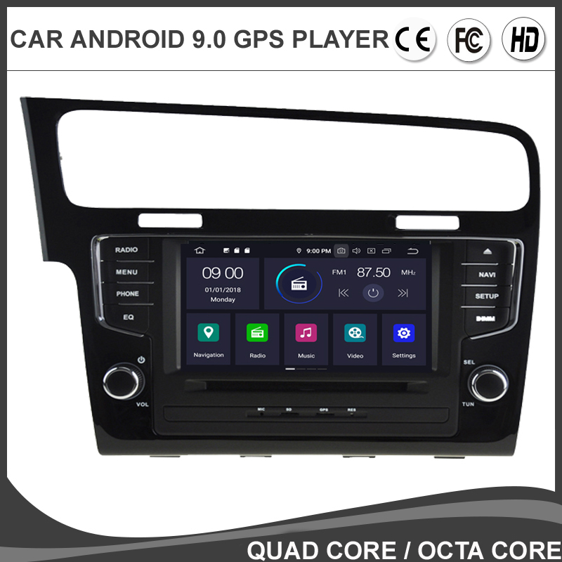 7''IPS Android 9.0 Octa Core Car DVD GPS Player For VOLKSWAGEN VW GOLF 7 MK7 Auto Radio SAT NAVI Navigation BT WIFI/4G CANBUS SD