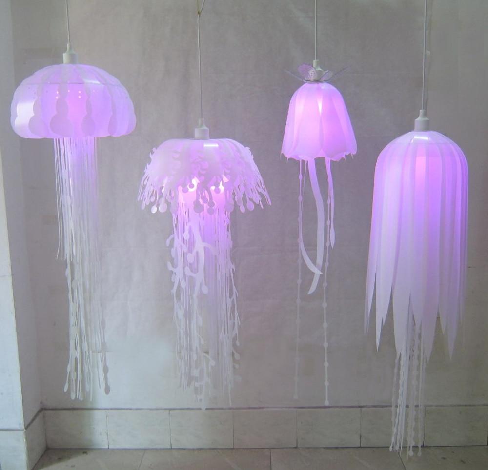 Image 3 - Modern pvc Jellyfish Pendant Light for living room Restaurant bedroom bar hanging lighting-in Pendant Lights from Lights & Lighting