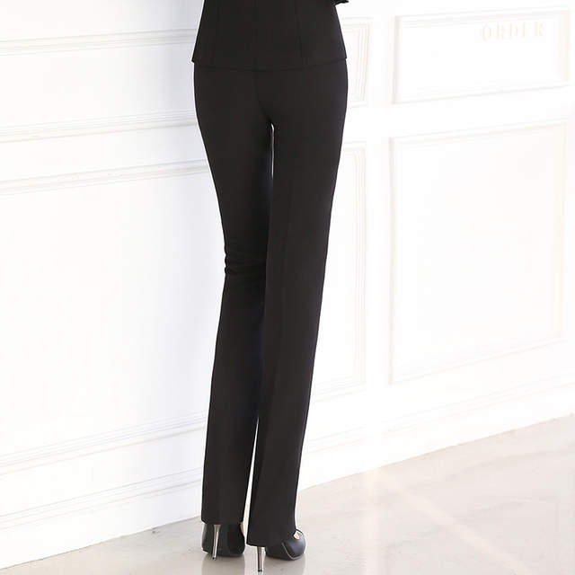 d6303ec305fcde Full Length Professional Business Formal Pants Women Trousers Girl Slim  Female Work Wear Office Career Plus