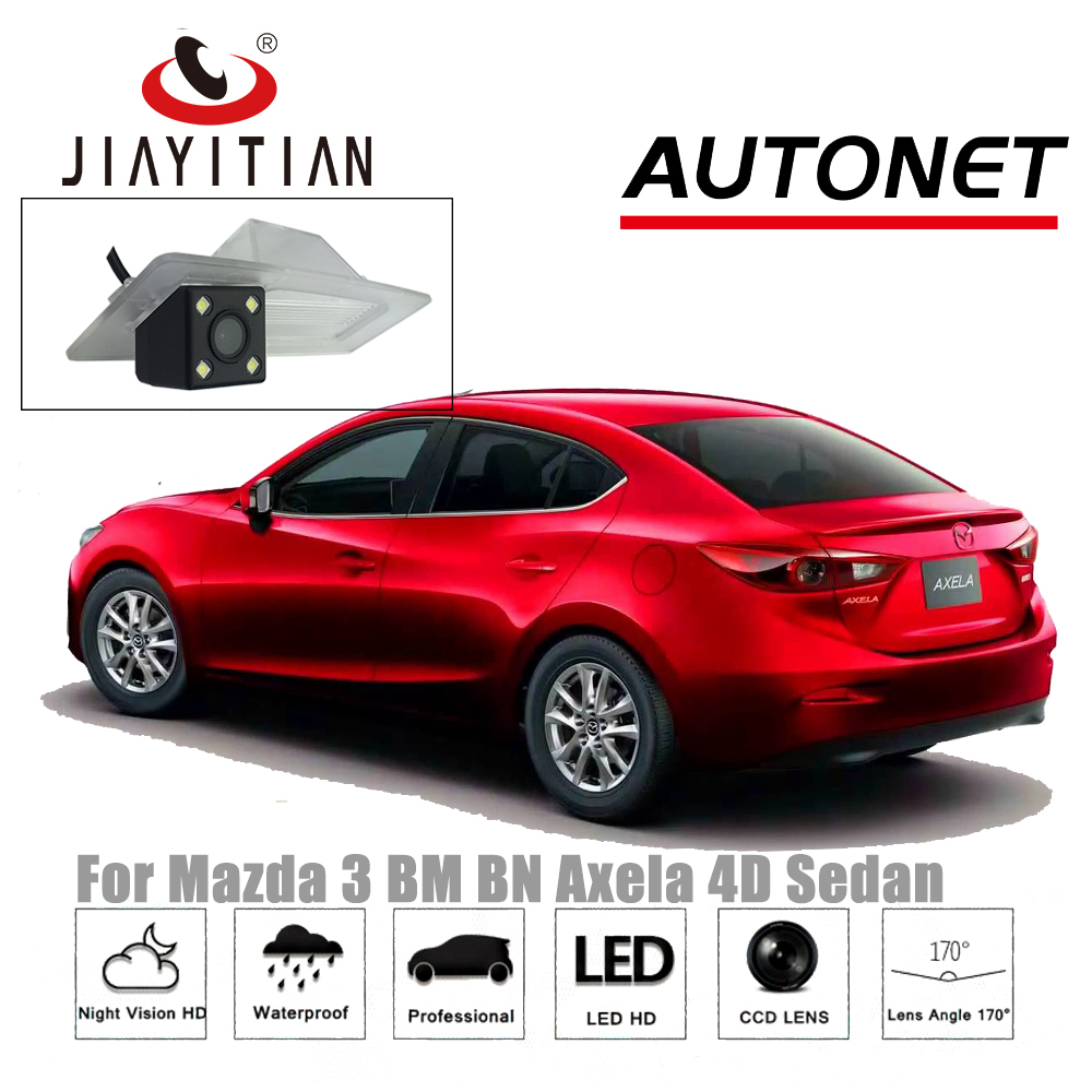 JIAYITIAN Rear View Camera For Mazda 3 BM BN Axela 4D Sedan 2013~2018/CCD/Night Vision/Reverse Camera/Backup Parking Camera комплект адаптеров mazda 3 sedan 2013