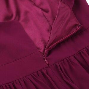 Image 5 - Tiaobug femmes dames croisé bretelles en mousseline de soie élégante robes de demoiselle dhonneur princesse bal fête Maxi longue robe de mariée