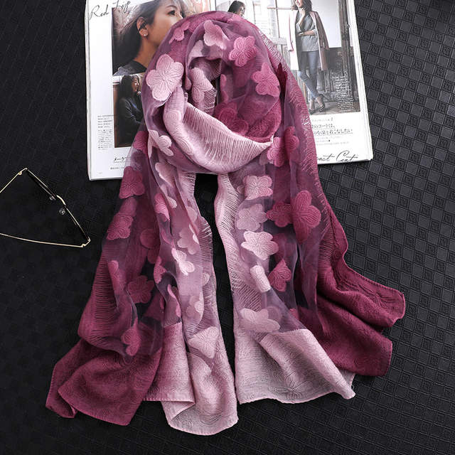 f0ca92edbcada Online Shop 2019 designer brand women scarf summer silk scarves for lady  pashmina long size foulard bandana hijabs scarfs neck shawls wraps |  Aliexpress ...