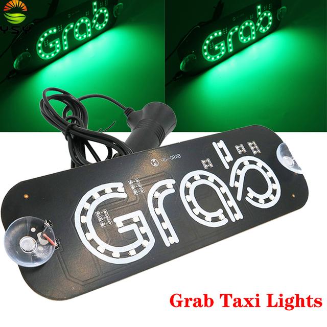 Grab Taxi Windscreen LED Panel
