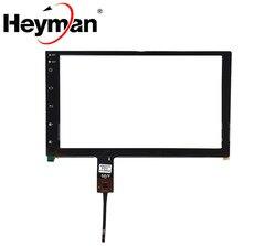 9 cal ZP2262-9-F ZP-001 V2.0 pojemnościowy ekran dotykowy Digitizer dla samochód Toyota nawigacji DVD ekran dotykowy panel szkło z przyciskiem