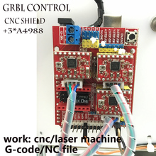 Grbl controller arduino A4988 chip USB port cnc engraving machine control board, 3 axis control,laser engraving machine board