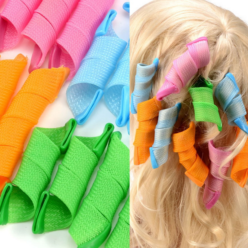18st hårrullar Styling Curler Tools DIY Natural Way Snabbt och - Hushållsvaror - Foto 1