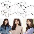 1 UNID Montura de gafas de Metal Marco de Anteojos de Moda Chicas Mujeres Delgadas Gafas Lente Clara Gafas Nuevo