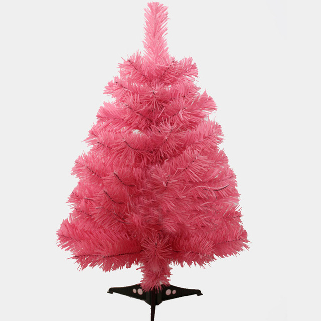 Us 25 07 34 Off 60cm Pink Color Christmas Tree Creative Encryption Christmas Table Decoration Tree Shop School Decoration On Christmas Day In Trees